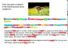 Parts of Speech Rainbow